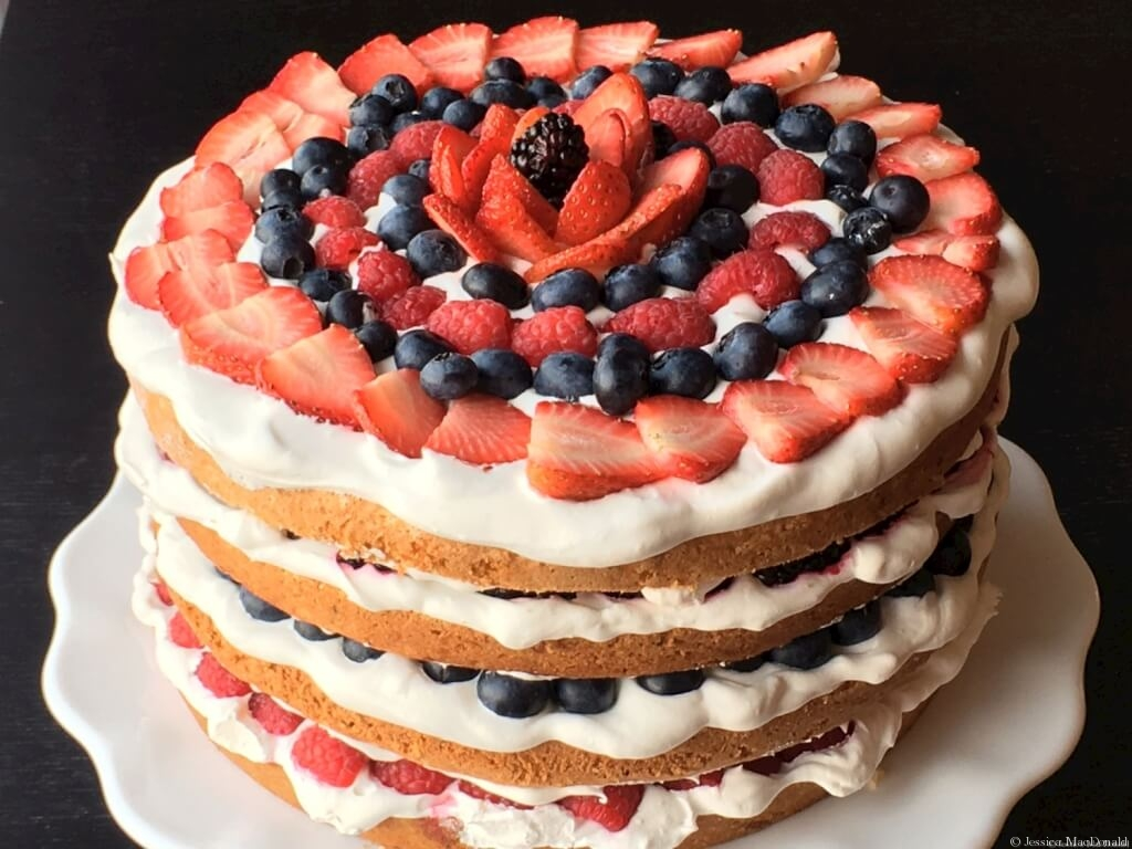 Berry Citrus Torte