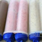 Banana, Strawberry and Chocolate Freezer Pops
