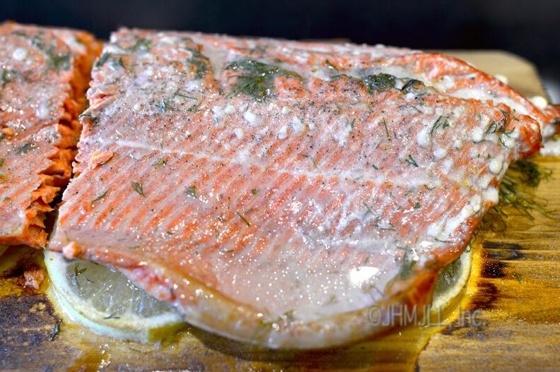 Lemon-Dill Cedar Plank Salmon