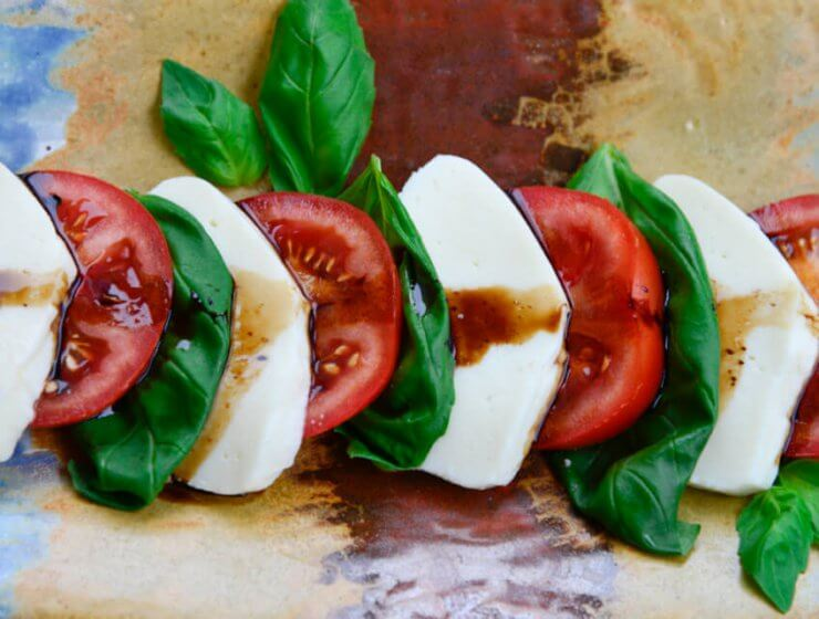 Caprese Salad with fresh heirloom tomatoes