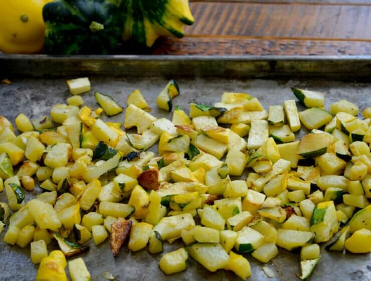 Roasted Patty Pan Squash