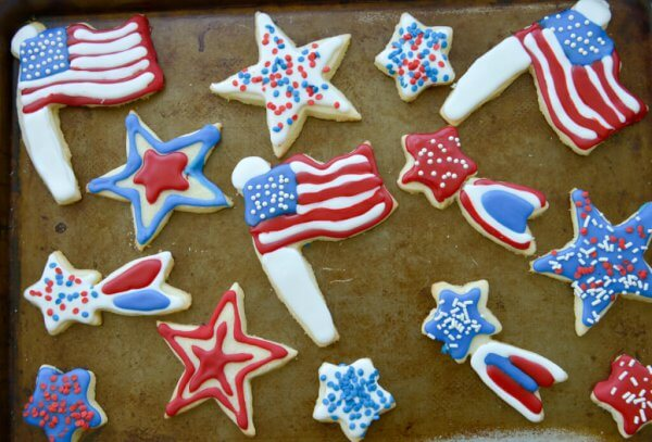 4th of July cut out Cookies